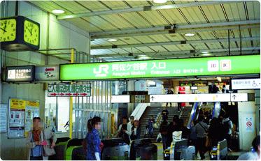 JR阿佐ヶ谷駅、改札出口の写真