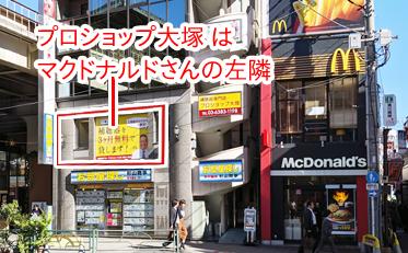 ランドエイトビル外観写真(阿佐ヶ谷駅からマクドナルドを目指し左隣)