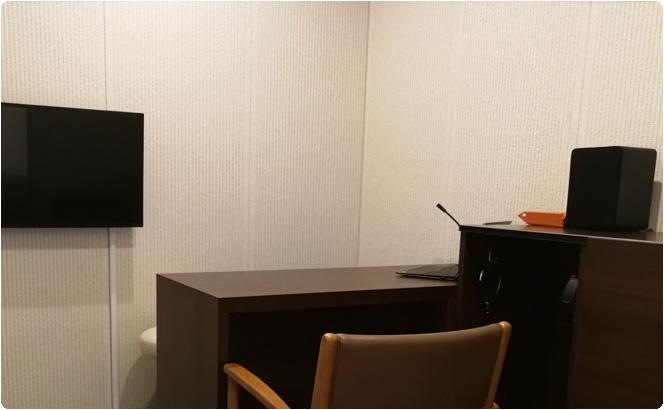 ゆったりとしたスペースの聴検室があります