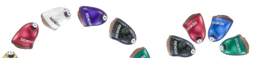 カラフルな補聴器