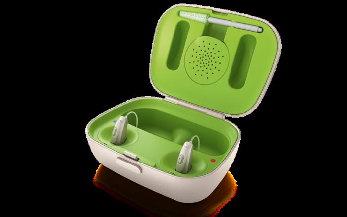 フォナック補聴器の充電器(フォナック補聴器より引用)