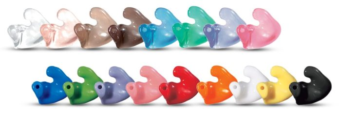 標準サイズの耳かけ型用オーダーメイド耳せん(シグニア補聴器カタログより引用)
