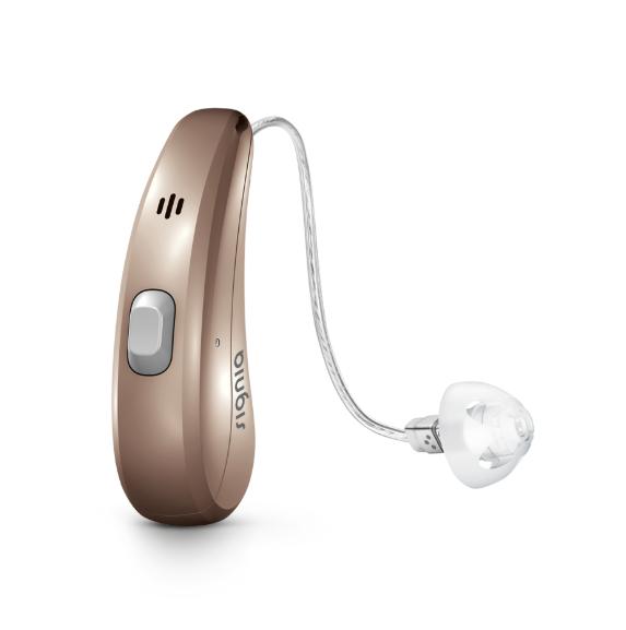 充電池が内蔵されている充電式補聴器(シグニア補聴器ホームページより引用)