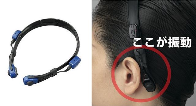 ヘッドバンド型骨導補聴器