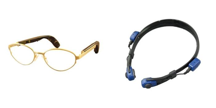 スターキー社:メガネ型骨伝導補聴器F228-D、カチューシャ型骨伝導補聴器miniデジタル骨導